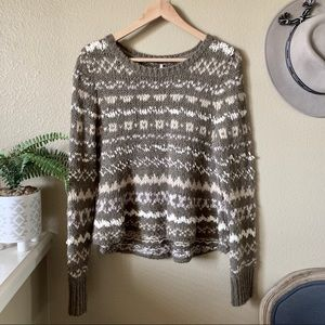 Free People Through the Storm Pullover Sweater